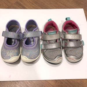 Toddler Girl Plae Shoes Lot - Size 8